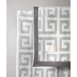 Wohndecke Greek Key Light Grey