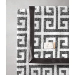 Wohndecke Greek Key Dark Grey