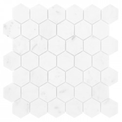 Mosaik Carrara Hexagon Marmor